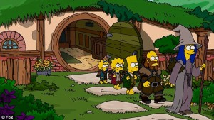 Simpsons Hobbit Couch Gag