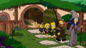 Simpsons Hobbit Couch Gag
